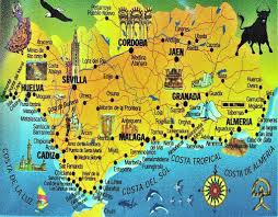 tourist map of andalusia  spain