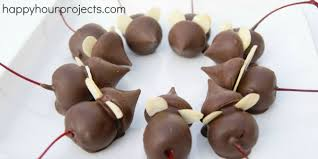 Chocolate Cherry Christmas Mice - Happy Hour Projects