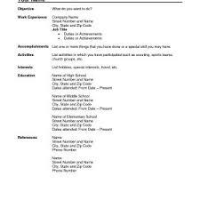 Resume Templates Microsoft Works Word Processor Best Free Resume