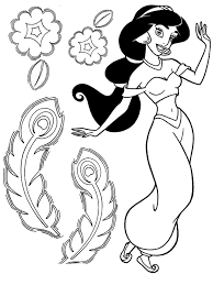 Small Picture Perfect Disney Jasmine Coloring Pages Best Col 3206 Unknown