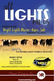Print Advertisement For Friedly Cattle For Their Maine Anjou