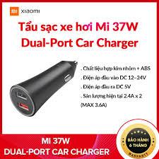 Tẩu sạc xe hơi Xiaomi Mi 37W Dual-Port Car Charger - Hàng Chính Hãng  Digiworld
