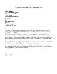Customer Service Cover Letter Example Resume And Servicesiter