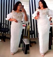 Lace African Dresses Design 2018 White African Attire African Lace Dresses African Lace