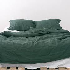 green duvet cover queen. Beautiful Cover EMERALD Natural Linen Bedding Set Darkgreen Duvet Cover US Twinus  Fullus QueenUS King  2 Pillow Cases Ready To Ship Throughout Green Queen I