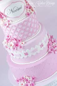 Pink Sweet Sixteen Birthday Cake Cakecentralcom