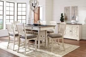 bolanburg white and gray rectangular counter height dining room set main image