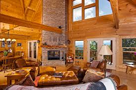 Log Cabin Living Room Concept Custom Inspiration
