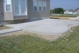 Patio Rare Backyard Concrete Patio Image Inspirations Charming