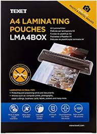 Texet A4 laminating pouches 150 microns <b>pack of 100</b>: Amazon.co ...