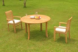 image is loading a grade teak 3pc dining 52 034 round