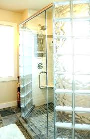 glass block wall bathroom showers shower window kit windows installation pivoting door with walls corner home