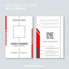 Personal Identification Card Template