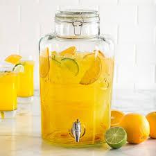 ksp nantucket glass beverage dispenser clear