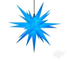 A7 Blau Kunststoff Herrnhuter Stern Für Außen Und Innen