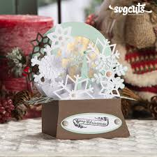How to make a pop up card for christmas? Free Gift Christmas Box Cards Svg Kit 6 99 Value Svgcuts Com Blog Christmas Cards Free Boxed Christmas Cards Christmas Card Crafts