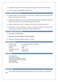 Ccna Cv Resume Declaration Format Awesome Declaration Format For