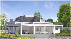 single floor european style home