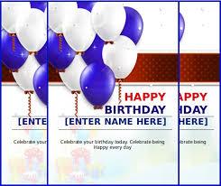 Birthday Card Templates Microsoft Word Free Greeting Card Templates For Microsoft Word Vintage Bird