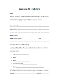 Equipment Bill Of Sale Equipment Bill Of Sale Form 24 Free Documents In Word PDF 5