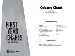 Cubano Chant Additional Score By Ray Brya J W Pepper