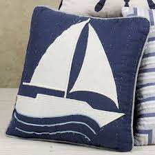 anchor indoor outdoor nautical throw pillow hand hooked accent
