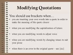 Brackets In Quotes Stunning Writing And Incorporating Quotes Effectively Integrating Quotes