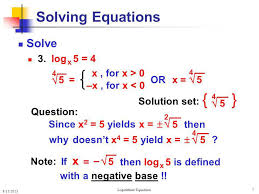 5 solving logarithmic equations