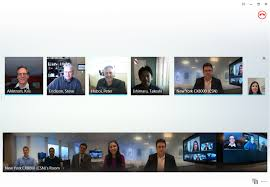 360 degree panoramic view from the polycom cx5100 shown from a skype for business client in a call