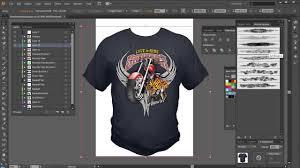 How To Make A Tshirt Design Using Illustrator Illustrator Brushes High End Tshirt Design Tutorial Shirt
