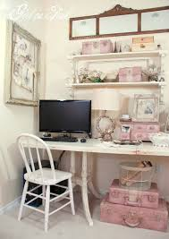 chic home office design home office. HD Pictures Of Shabby Chic Home Office Decor Design E