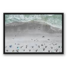 aerial beach photo  on beach framed canvas wall art with designs direct 20 in x 30 in aerial beach photo printed framed
