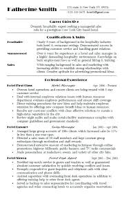 Resume For Hospitality Stunning Resume For Hotel Sample Hospitality Resume Hotel Career Objective