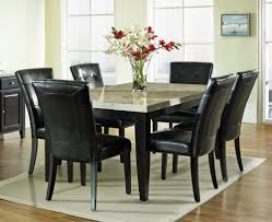 black dining room sets. Large (Large: 1000x816 Pixels). Casual 7 Pc Dining Set With Faux Marble Table Black Room Sets