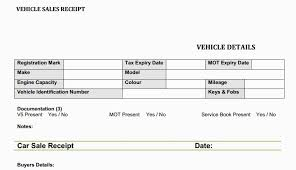 Auto Sales Receipt Template Car Sale Invoice Template Car Sales Receipt Form Car Sale