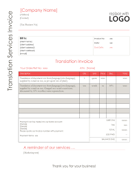 Your Translation Invoice 9 Point Blueprint Free Templates