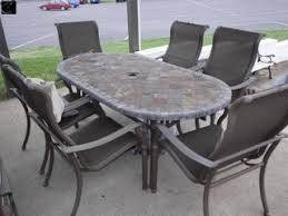 patio table and 6 chairs: