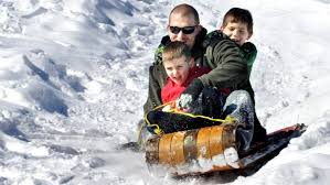 the old wooden toboggans may look nice but they re not the fastest sleds according to michael edwards of science east ap