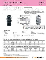 Pg Cable Gland Size Chart Pdf Product Selection Guide 4