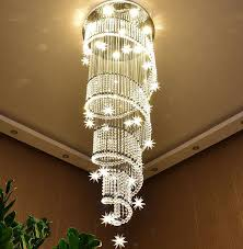 modern crystal chandelier ceiling light villa stairs led lighting fixture 6690