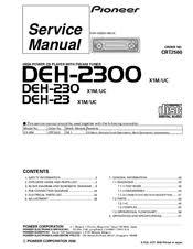 pioneer deh 23 manuals pioneer deh 23 service manual
