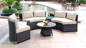 amazing outdoor patio furniture sectional and seat curved outdoor patio furniture set pe wicker rattan sofa