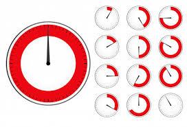 Timer Clock Set Red Countdown Timer Vector Premium Download