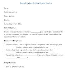 Bank Resume Template Stunning 48 Sample Banking Resume Templates PDF DOC Free Premium