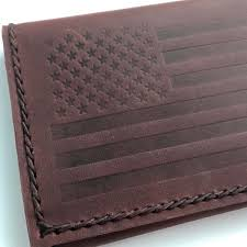 the embossed american flag looked great very understated yet dignified fitting of old glory