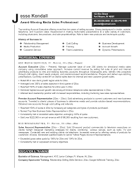 Media Resume Examples Alluring Media Sales Resume Format In Representative Job Examples 8