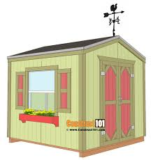 garden shed plans 8 x8 free plans from construct101