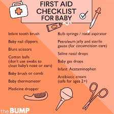 Baby Supplies Checklist Checklist Making A First Aid Kit For Baby