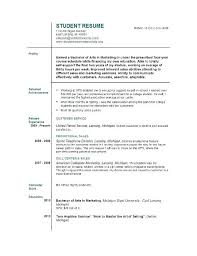 High School Student Resume Examples For Jobs First Job Resume High