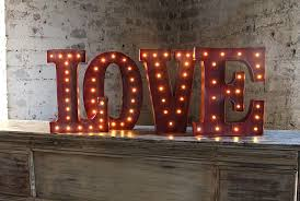 led wall art battery operated 12 inch lighted metal letters love
